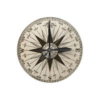 Vintage Compass Rose Wall Clock from Zazzle.com