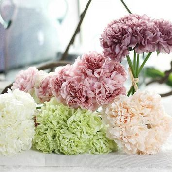 New simulation silk flower peony flower bouquet Bridal bouquet wedding flower ball