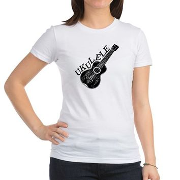 Ukulele Text And Image Jr. Jersey T-Shirt