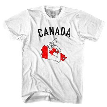 Canada Flag & Country T-shirt-Adult