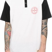 Diamond Supply Co Stamped Henley T-Shirt
