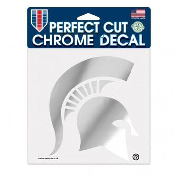 Michigan State Spartans Decal 6x6 Perfect Cut Chrome