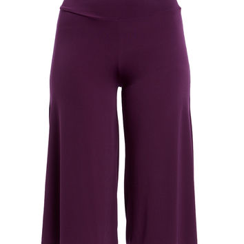 Eggplant Gaucho Pants - Plus