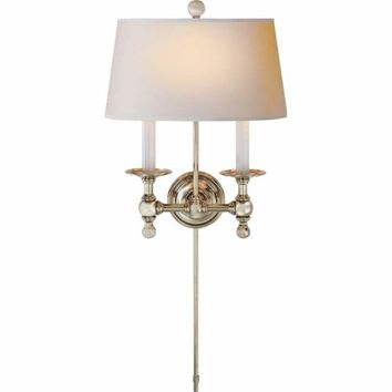 Visual Comfort and Company SL2817PN-NP Polished Nickel Two-Light Classic Sconce
