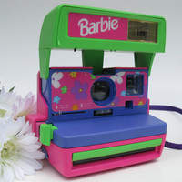 Polaroid Barbie Instant Camera With Flash 600 Film