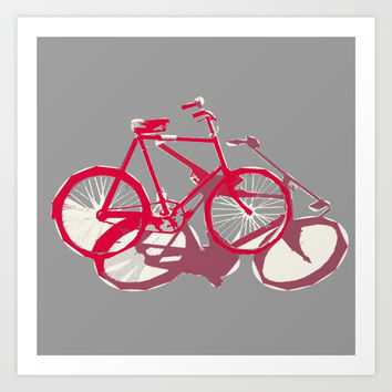 I want to ride my bicycle Art Print by anipani