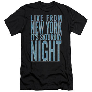 SNL/ITS SATURDAY NIGHT - S/S ADULT 30/1 - BLACK -