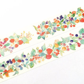 Berries washi tape (T00199)