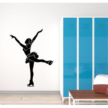 Vinyl Wall Decal Figure Skating Girl Sport Dancing Ice Stickers Mural (g1763)