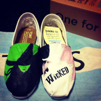 Hand painted Wicked TOMS Made to Order by BreakFreeDesigns on Etsy