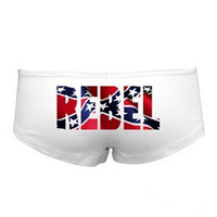 Rebel Flag Boy Shorts -These Boy Short Panties Have The Confederate Flag On the Rear