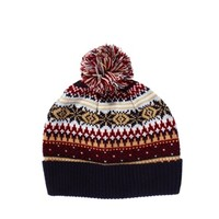 ASOS Bobble Beanie Hat with Snowflake Fairisle Design