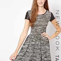 New Look Tall Space Dye Skater Dress