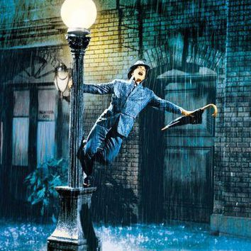 Singin In The Rain Movie poster Metal Sign Wall Art 8inx12in