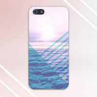 Geometric Clouds x Transparent Sky Blue Design Case for iPhone 6 6 Plus iPhone 5 5s 5c iPhone 4 4s Samsung Galaxy s5 s4 & s3 and Note 4 3 2