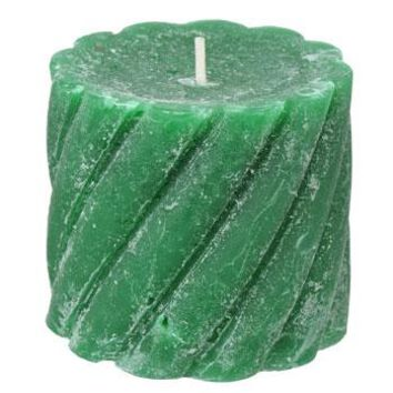 Pine-Scented Twisted Pillar Candle