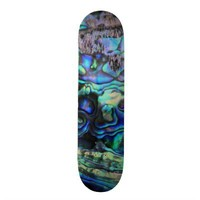 Abalone shell beautiful paua detail skateboard deck from Zazzle.com