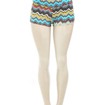 Colorful Tribal Aztec Pattern Bikram Yoga Shorts -- Hot Yoga Shorts -- Gym Shorts -- Workout Shorts -- Running Short -- Dance Wear