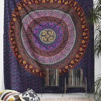 Large Indian Mandala Tapestry Hippie Hippy Wall Hanging Throw Bedspread Dorm Tapestry Decorative Wall Hanging , Picnic Beach Sheet Coverlet