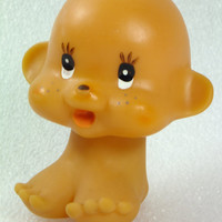 Vintage Rubber Baby Doll Swivel Head, Bath Toy