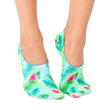 Tropical Watermelon Liner Socks