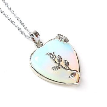 Natural Stone Heart Shape Neclace