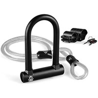 Heavy Duty Combination Bike U Lock, Amazer 12mm Bike Lock Bicycle Heavy Duty Combination U Lock Bike Lock Anti Theft