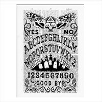 Vintage Dictionary Spirit Board Ouija Dictionary Art Print