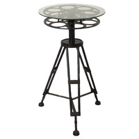 Round Top Holllywood Film Reel Table