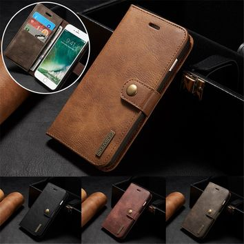 DG.MING Brand Leather Wallet Case for iPhone 7 7 Plus 6S 6S Plus 6 6 Plus Galaxy S7 S7 Edge S8 S8 Plus G6 Business Luxury Multif