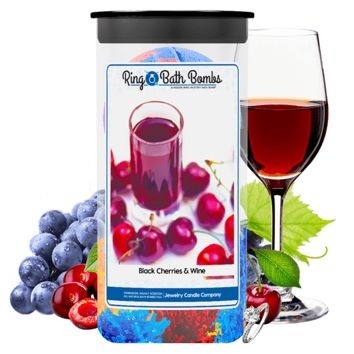 Black Cherries & Wine Ring Bath Bombs Twin Pack