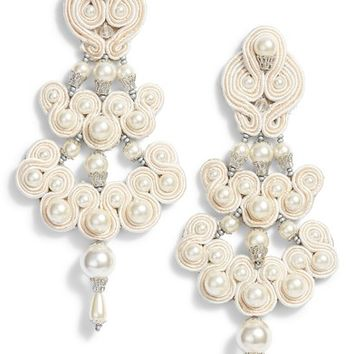 Tory Burch Beaded Chandelier Earrings | Nordstrom