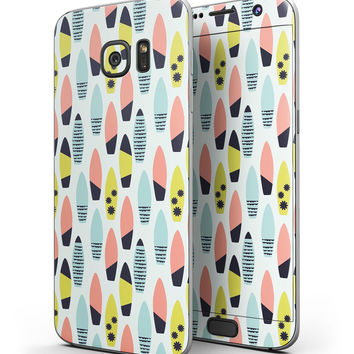Vibrant Colored Surfboard Pattern - Full Body Skin-Kit for the Samsung Galaxy S7 or S7 Edge