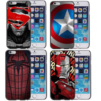 Superhero Collection Deadpool Spiderman Ironman Batman Marvel Phone Case for iphone 7 7Plus 5 5S 6 6S Plus 8 8Plus X 10 Cover