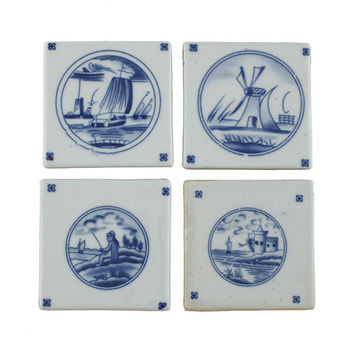 Blue and White Dutch Coasters | Tablewares | Wisteria