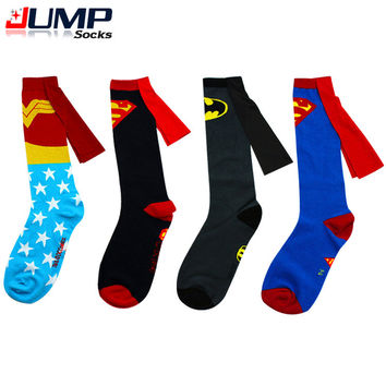 LONG SUPERHERO SOCKS WITH CAPE