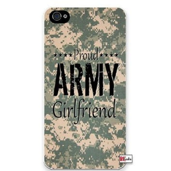 Premium Direct Print Proud Army Girlfriend United States USA Camo iphone 6 Quality Hard Snap On Case for iphone 6/Apple iphone 6 - AT&T Sprint Verizon - White Case PLUS Bonus RCGRafix The Best Iphone Business Productivity Apps Review Guide
