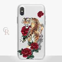 Tiger Clear Phone Case Phone Case For iPhone 8 iPhone 8 Plus iPhone X Phone 7 Plus iPhone 6 iPhone 6S  iPhone SE Samsung S8 iPhone 5 Floral