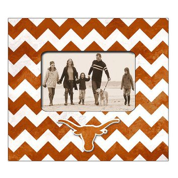 Legacy Athletic Texas Longhorns 4'' x 6'' Chevron Picture Frame (Orange)