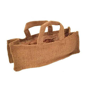Jones International Miniature Handle Burlap Tote Gift Bags (10 ct)