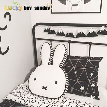 lucky boy sunday cut rabbit pillow for kids room decoration rabbit plush doll rabbit pillow cushion kids toy gift for girlfriend
