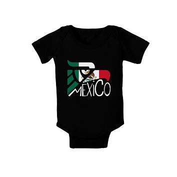 Mexico Eagle Symbol - Mexican Flag - Mexico Baby Bodysuit Dark by TooLoud