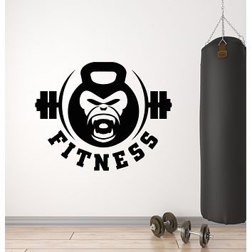 Vinyl Wall Decal Gym Fitness Club Iron Strength Sport Stickers Mural (g2994)