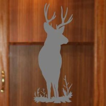 Buck in The Field Deer Etched Glass Vinyl Gun Cabinet Sliding Front Shower Office Window Door Decal Stickers Sticker