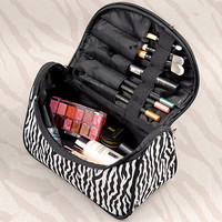 Fashion Lady Women Travel Make Up Cosmetic pouch bag Clutch Handbag Casual Purse D_L (Color: Zebra) = 1712516228