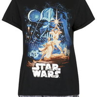 Star Wars Print Pajama Set - Black