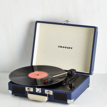 ModCloth Dorm Decor Take Your Turntable in Blue