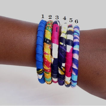 African print bangle - mixed colors choice