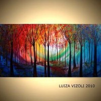 MAGIC FOREST Original Modern Abstract Trees by LUIZAVIZOLI on Etsy