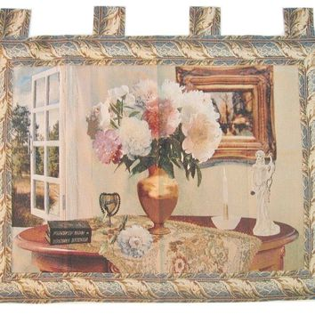 """DaDa Bedding Breeze of Admiration Elegant Woven Baroque Tapestry Wall Hanging - 36"""" X 50"""""""